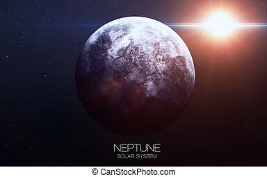 Neptune - High resolution images presents planets of the solar system. This image elements furnished by NASA.