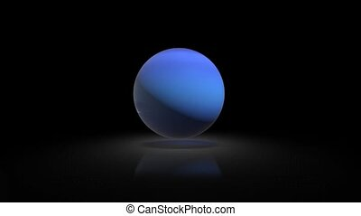 Neptune in the solar system on the background of the Galaxy 128