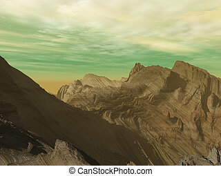 Neptune mountains