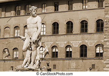 Neptune on Piazza Signoria in Florence, Italy
