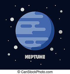 Neptune on space background