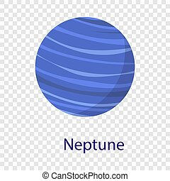 Neptune planet icon, flat style