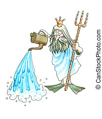 Neptune (Poseidon) - About Iceland a warm current Gulf...