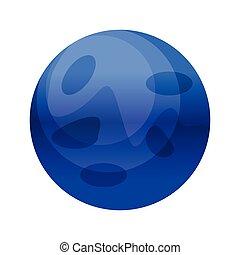 Neptune vector illustration on white background.