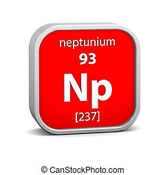 Neptunium material on the periodic table. Part of a series.