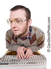 nerd , πληκτρολόγιο