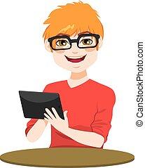 nerd, タブレット