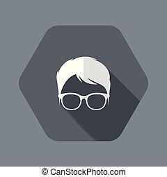 Nerd avatar face profile