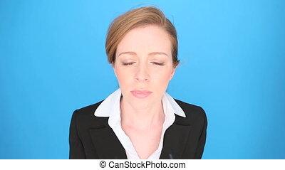Nerd Businesswoman In Glasses - Nerd businesswoman wearing a...