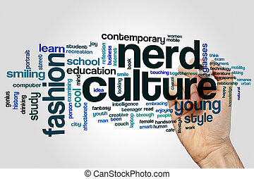 Nerd culture word cloud