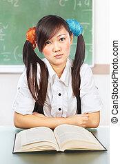 Nerd female student