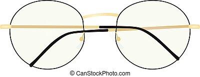 Nerd glasses. vector illustration
