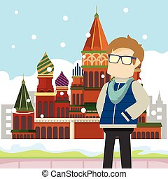 nerd in front moscow