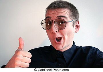 nerd, lunettes