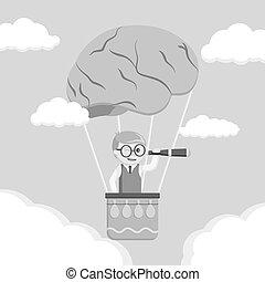 Nerd search form brain air ballon