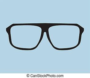 Nerd vector glasses illustration
