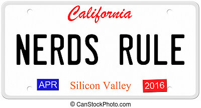 Nerds Rule License Plate - An imitation California license...