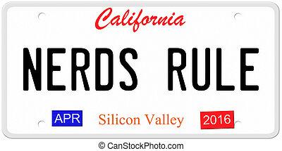 Nerds Rule License Plate - An imitation California license...