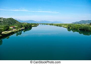 Neretva river in Croatia