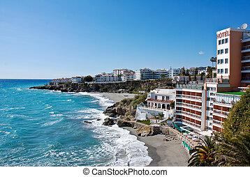 nerja, 浜, -, スペイン, 都市
