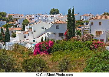 nerja, paysage, espagnol