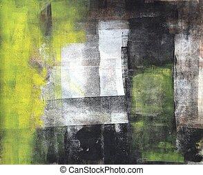 nero, arte astratta, giallo