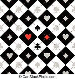 nero, asse, fondo, completo, bianco, scheda, scacchi