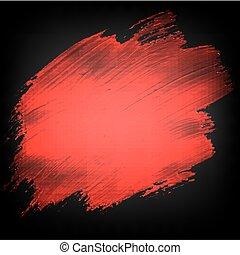 nero, bandiera, blobs, rosso