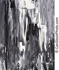 nero, bianco, arte, astratto