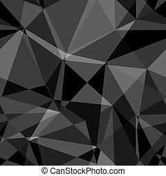 nero bianco, astratto, fondo, poligono