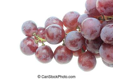 nero, bianco, grapes.isolated, fondo