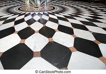 Nero bianco mosaici pavimento citt antico vesuvius for Pavimento bianco e nero
