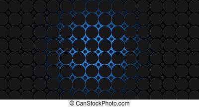 nero, blu, cerchi, moderno, fondo, illustrazione