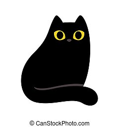 nero, cartone animato, gatto