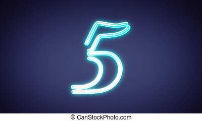 nero countdown number blue 5