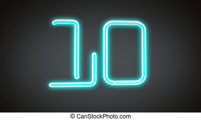 nero countdown number grey10 - the countdown number graphic ...