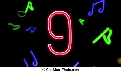 nero countdown object black