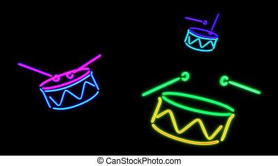 nero Drum 2 - the color graphic of nero light glow