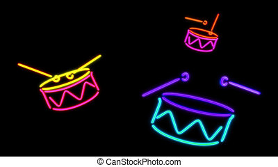 nero Drum - the color graphic of nero light glow