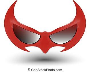 nero, eroe super, maschera
