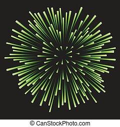 nero, fireworks, sfondo verde