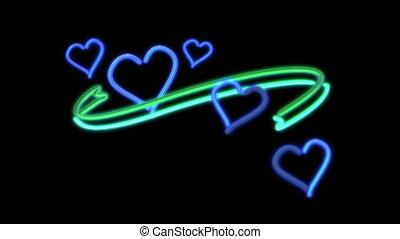 nero heart color blue