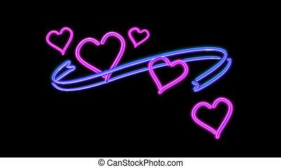 nero heart color - the heart graphic of nero light glow