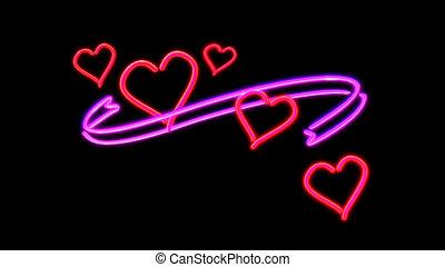 nero heart - the heart graphic of nero light glow