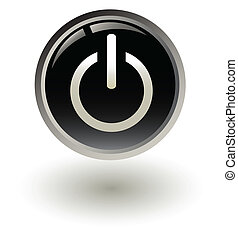 /, nero, inizio, bottone potere