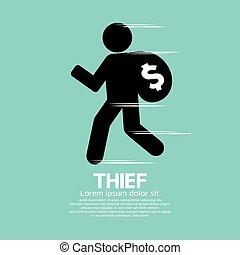 nero, ladro, simbolo.