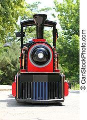 nero, locomotiva, rosso