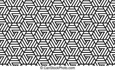 nero, modello, bianco, geometrico