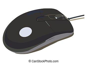 nero, mouse elaboratore