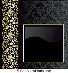 nero, oro, fondo